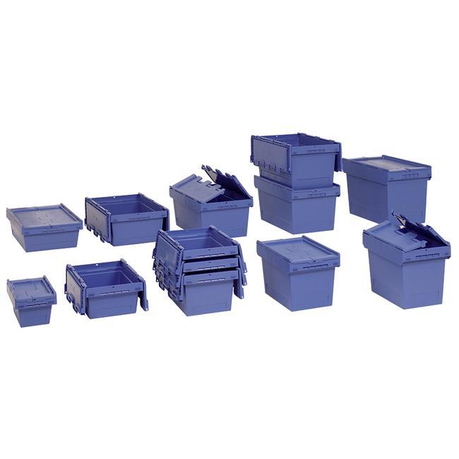 Mehrwegbehälter mit anscharniertem Klappdeckel