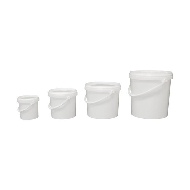 Kunststoff-Eimer mit Deckel (rund)